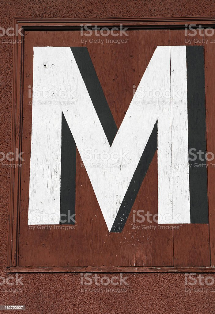 Red M royalty-free stock photo