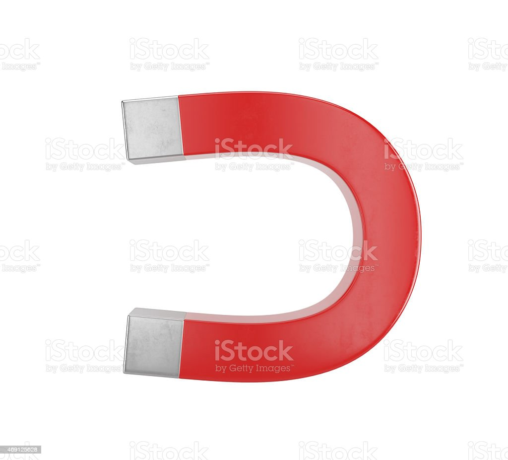 red magnet stock photo
