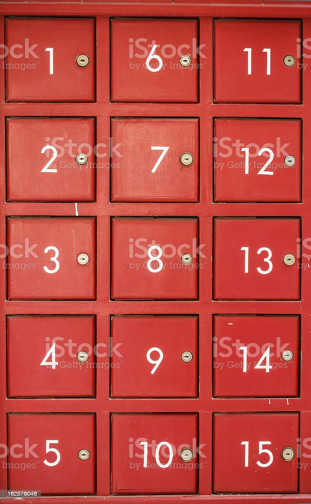 Red mail box royalty-free stock photo