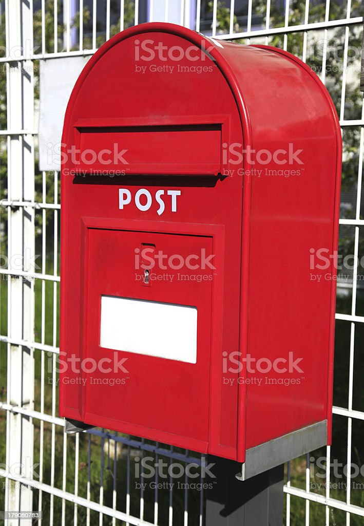 Red mail box. royalty-free stock photo
