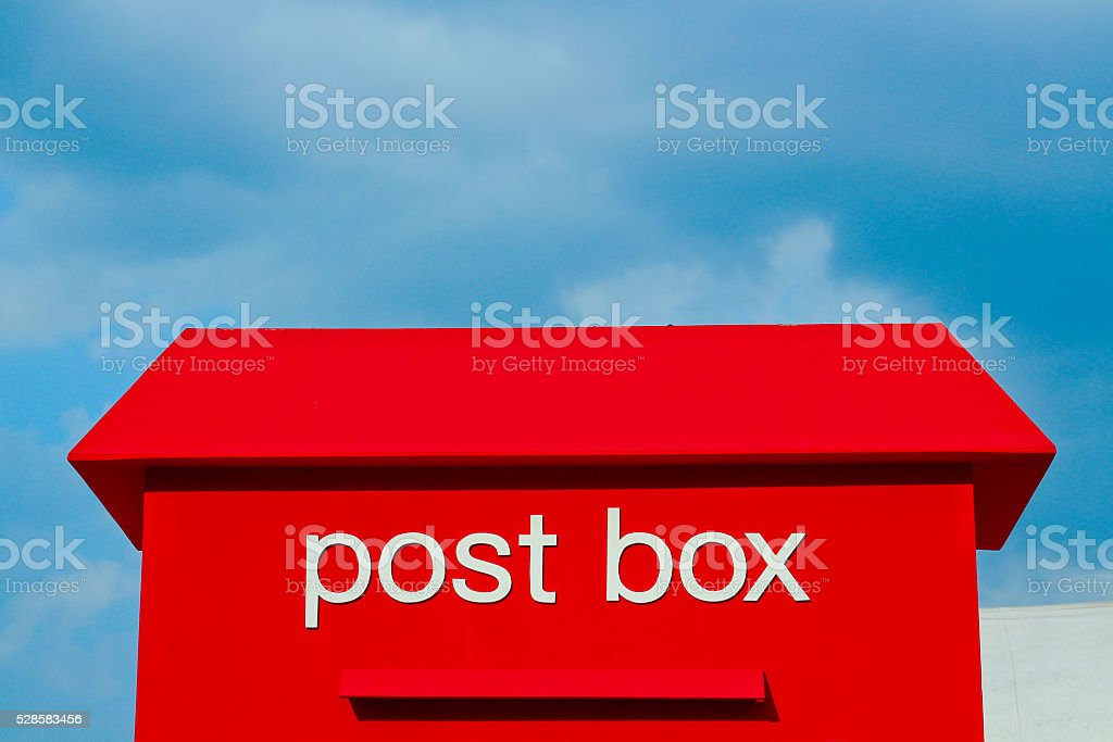 Red Mail Box stock photo