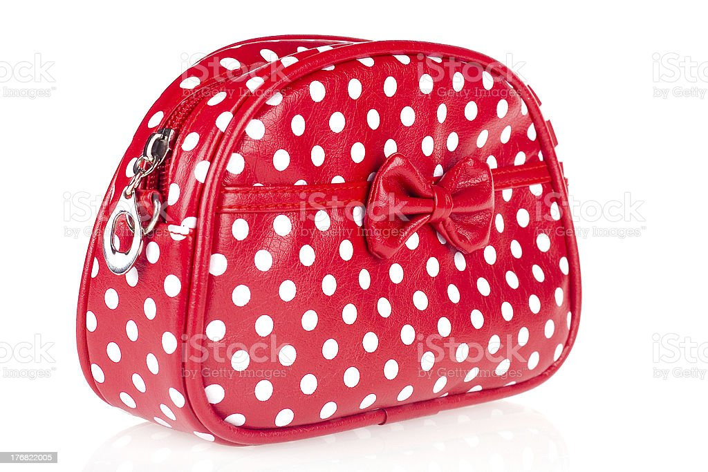 Red makeup bag royalty-free stock photo