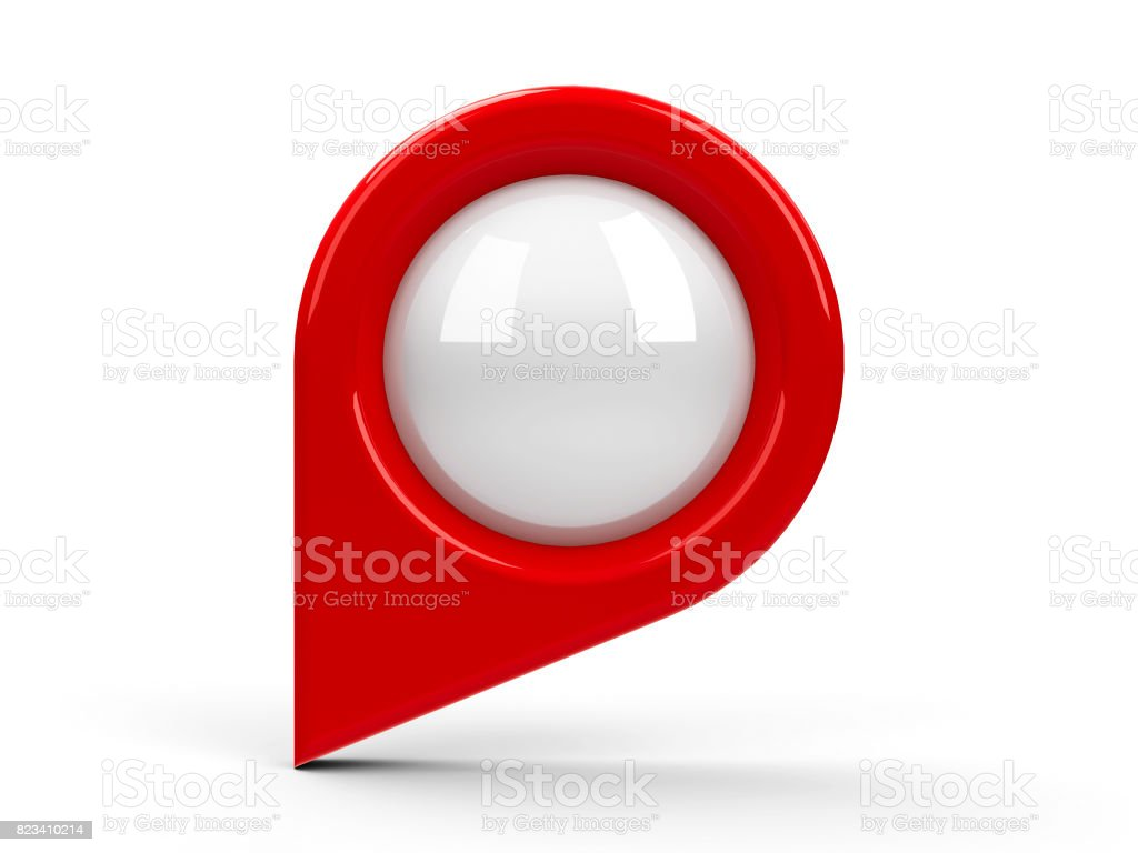 Red map pointer blank #3 stock photo