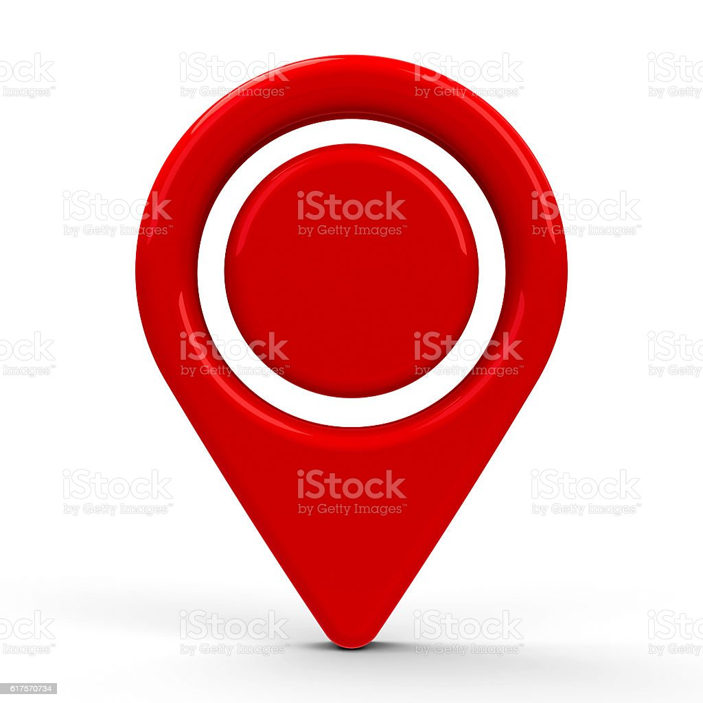 Red map pointer dot #2 stock photo