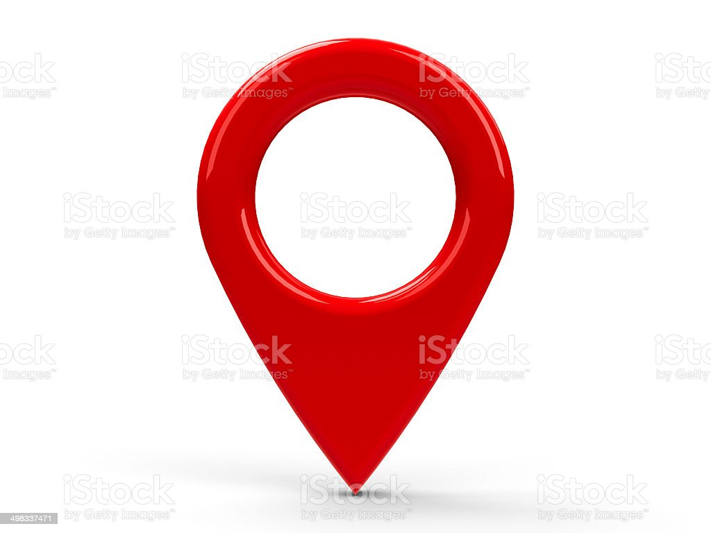 Red map pointer stock photo