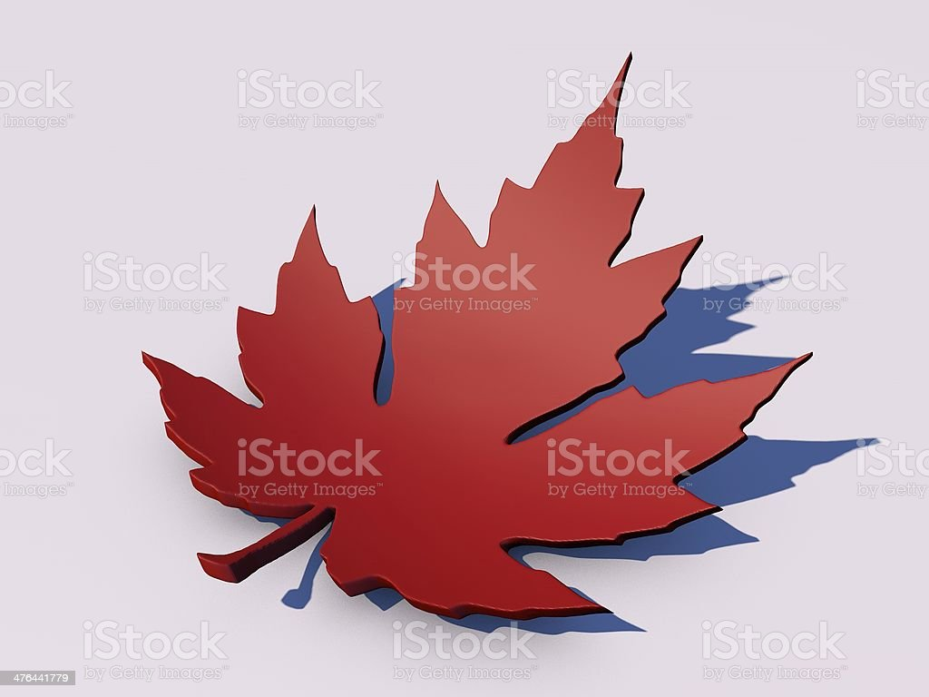 Red Maple Leaf isolated royalty-free stock photo