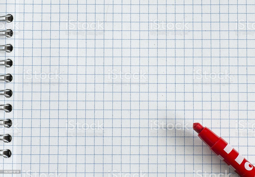 Red marker royalty-free stock photo