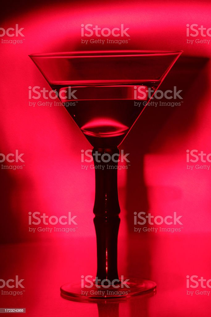 Red Martini glass stock photo