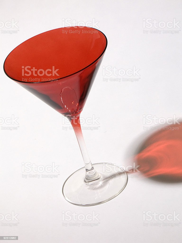 Red Martini Glass royalty-free stock photo