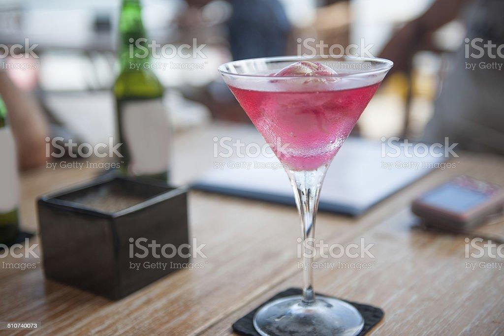 Red martini stock photo