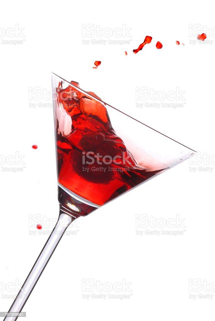 Red Martini Splash royalty-free stock photo