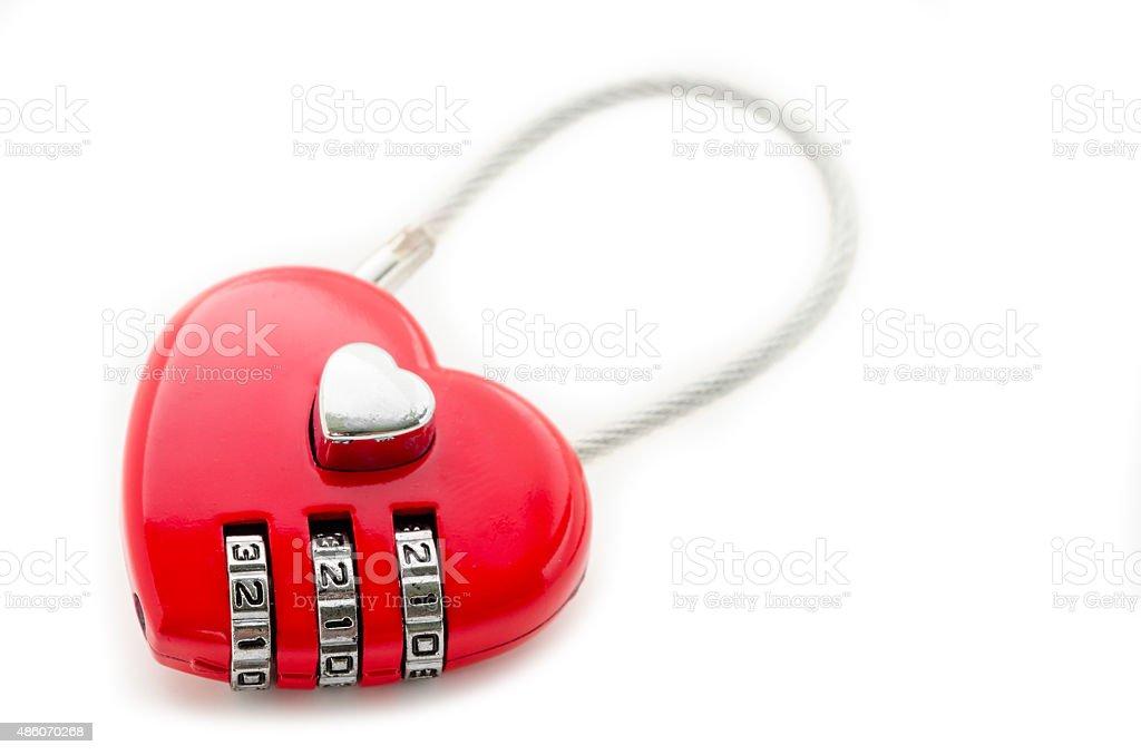 Red master key heart stock photo