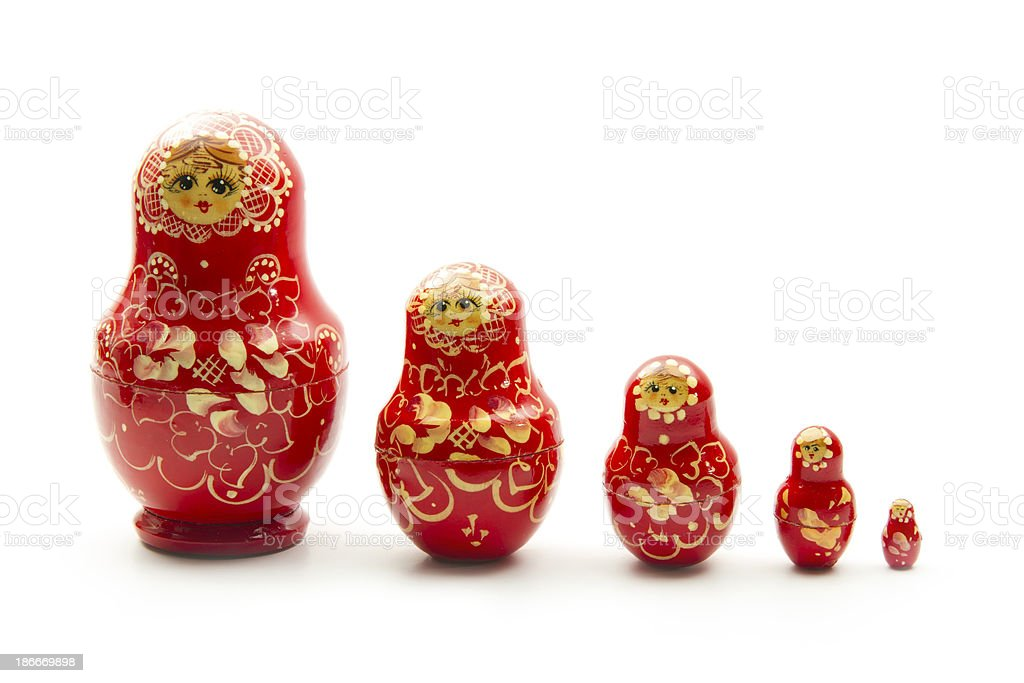 red matrioshka stock photo