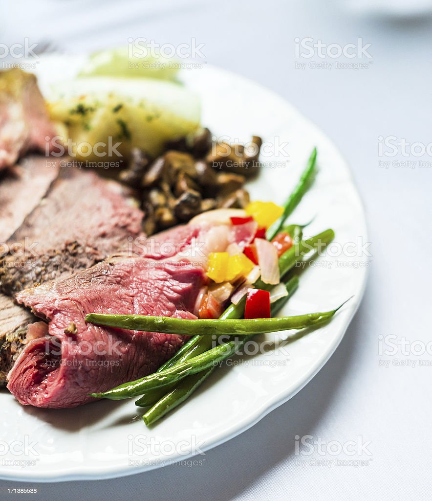 red meat and vegetables royalty-free stock photo