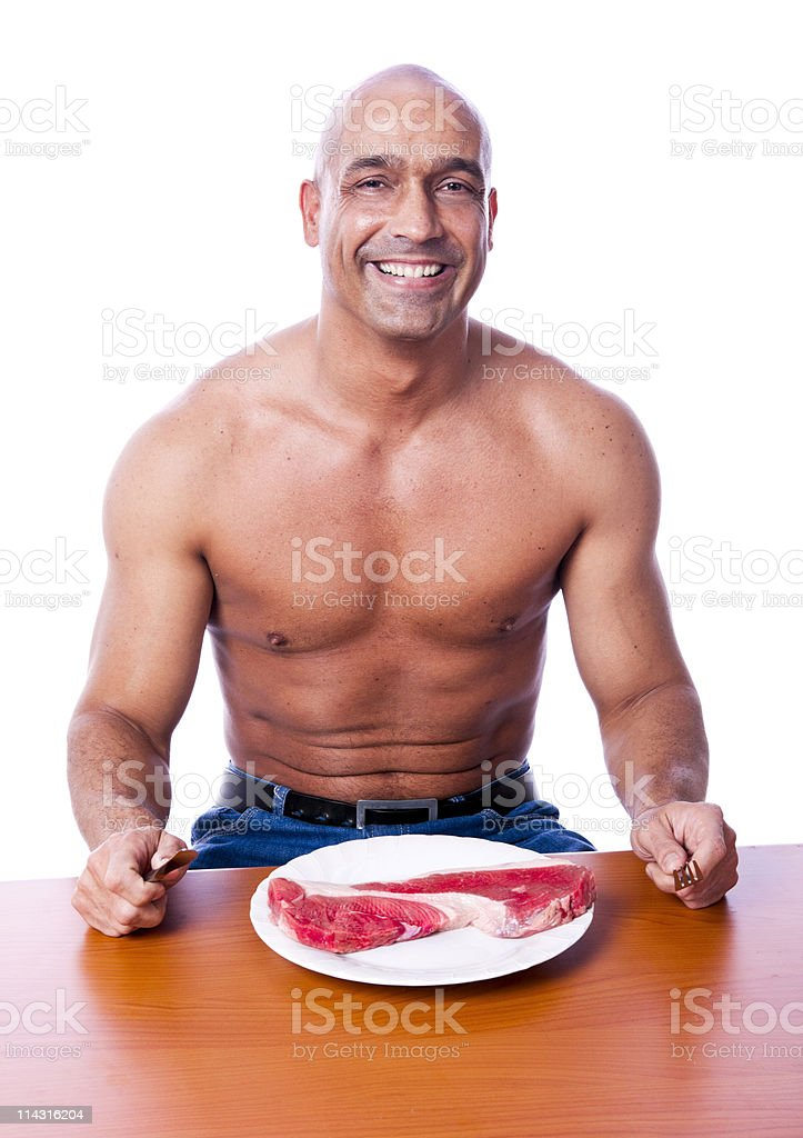 Red meat eater royalty-free stock photo
