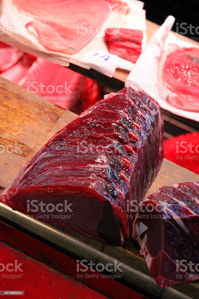 Red Meat of the Sea stock photo