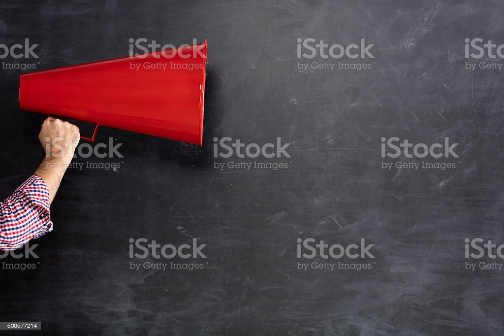 Red Megaphone stock photo