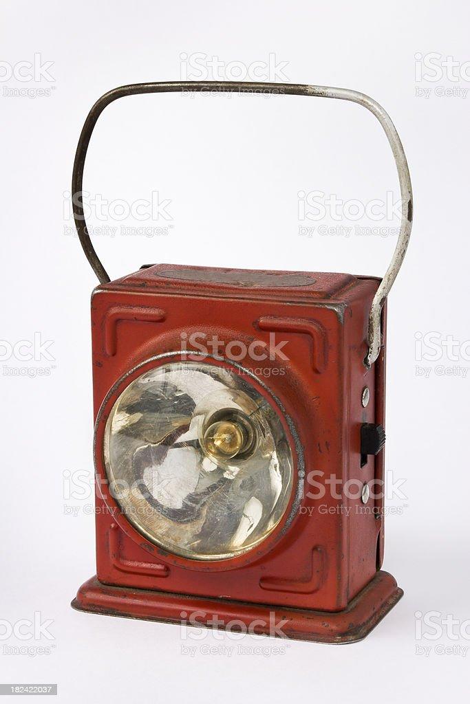 Red Metal Flashlight royalty-free stock photo