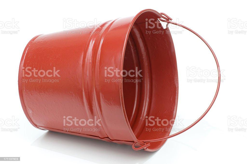red metal pail royalty-free stock photo