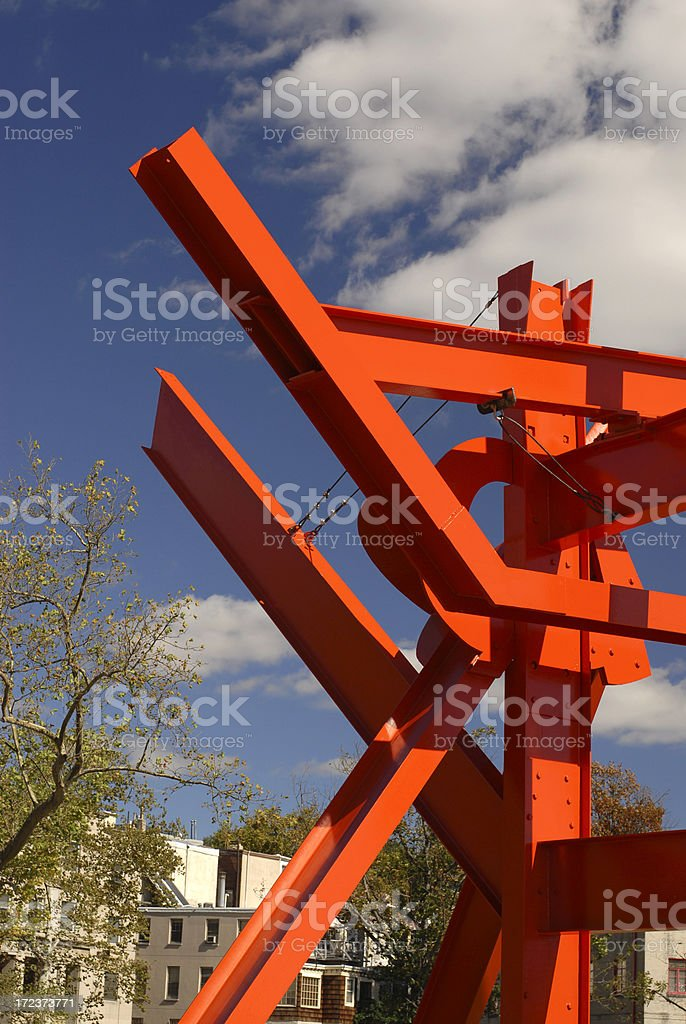 Red Metal Sculpture royalty-free stock photo