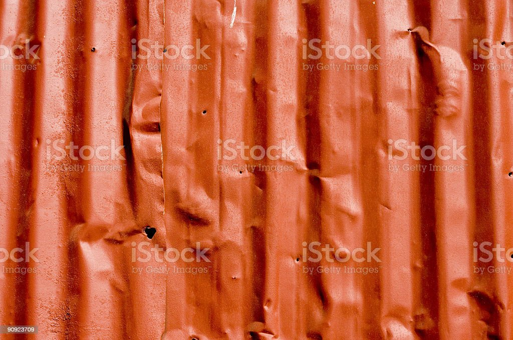 red metal siding royalty-free stock photo