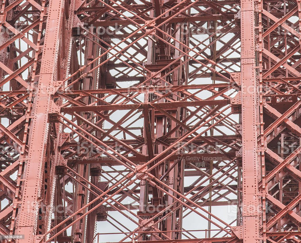 Red Metal structure stock photo