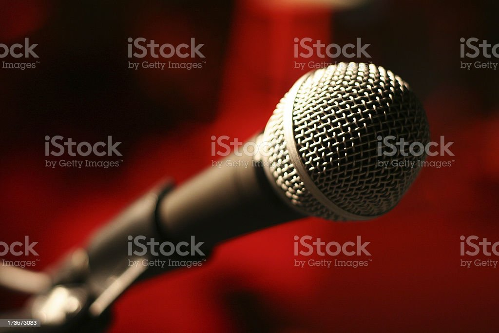 Red Mic royalty-free stock photo