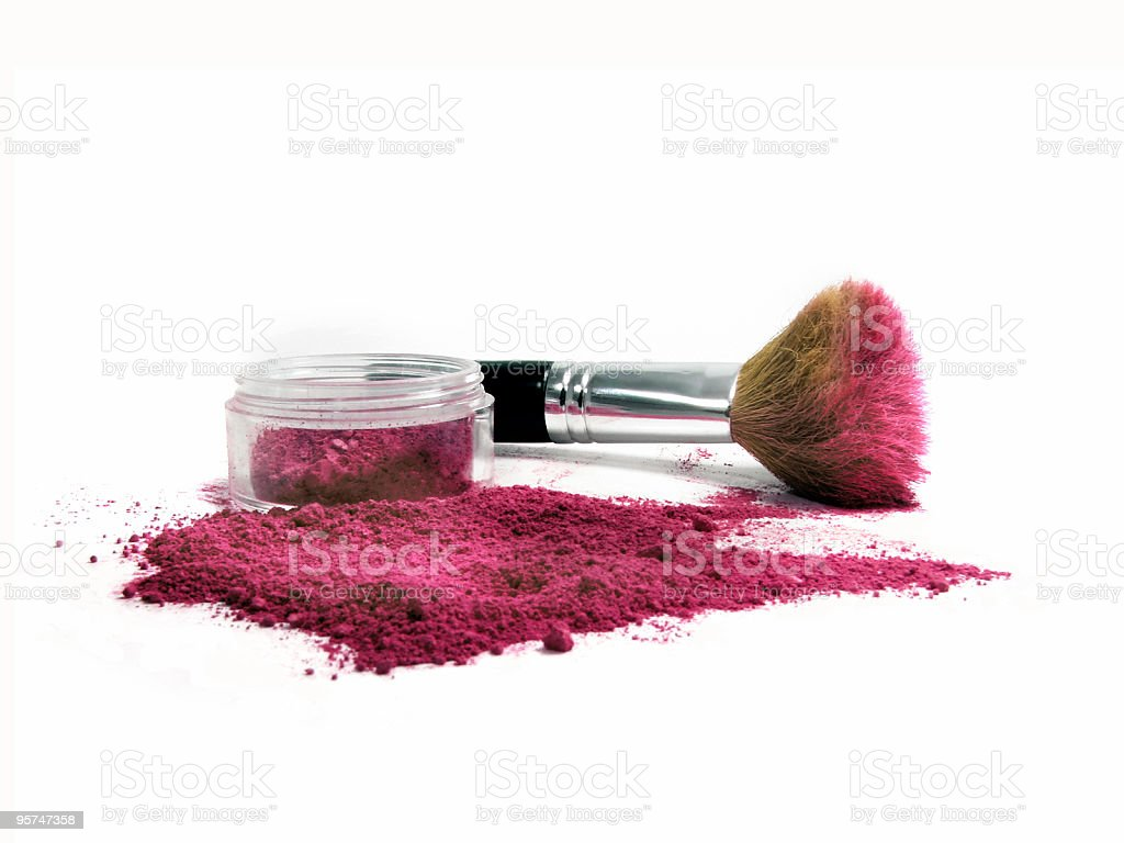 Red Mineral Make-up royalty-free stock photo