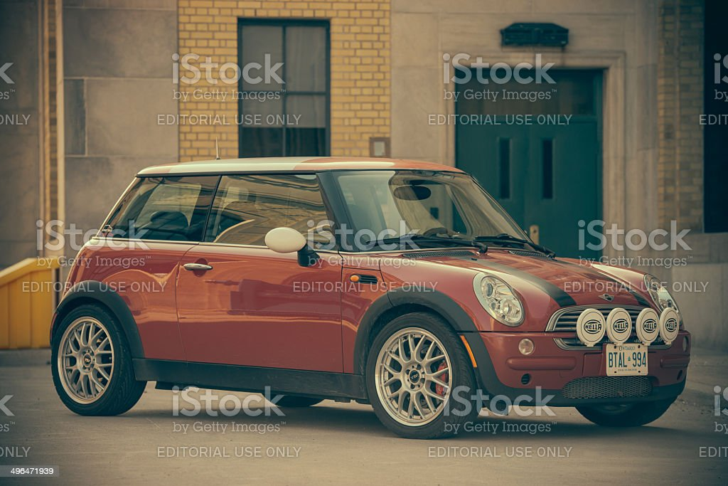 Red Mini Cooper royalty-free stock photo