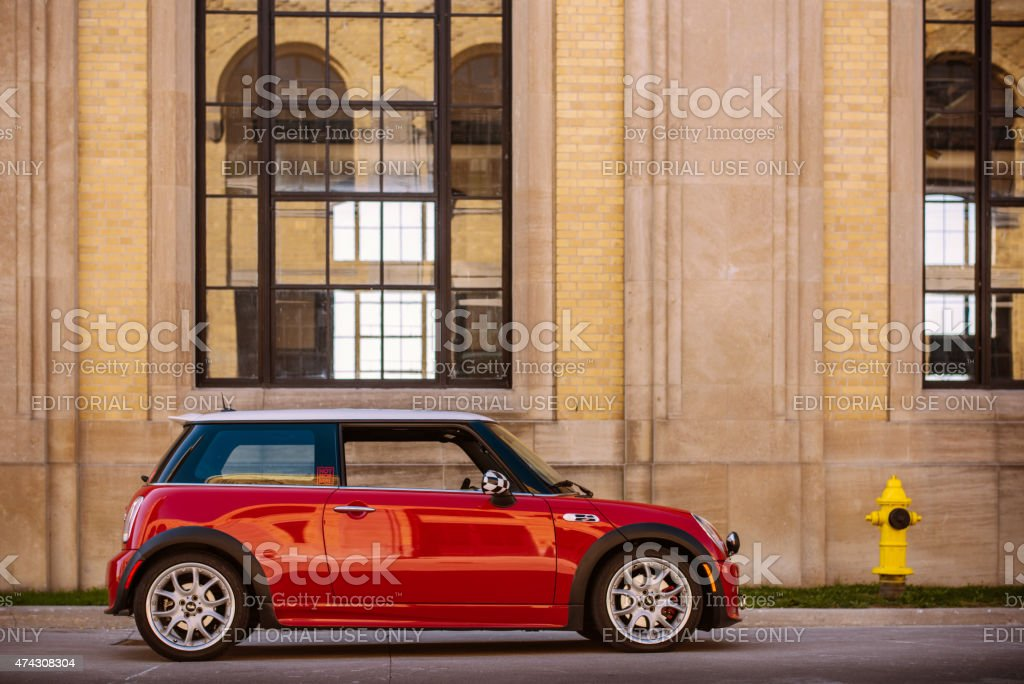 Red Mini Cooper S JCW stock photo