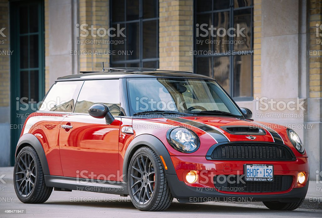 Red Mini Cooper S royalty-free stock photo
