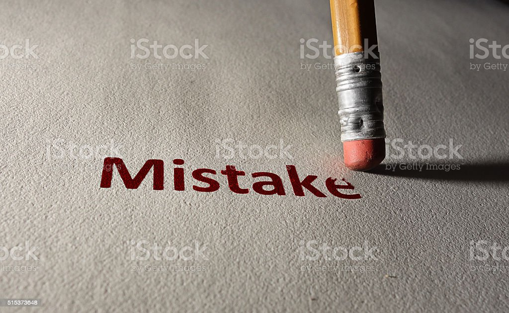 Red mistake stock photo