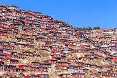 Red monastery at Larung gar (Buddhist Academy)