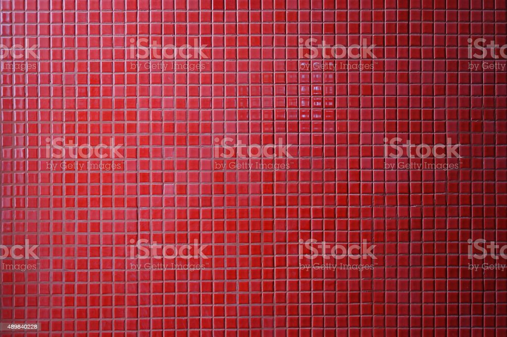 Red mosaic tile background stock photo