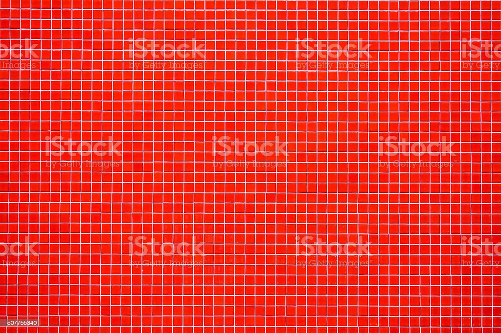 Red mosaic tiles stock photo