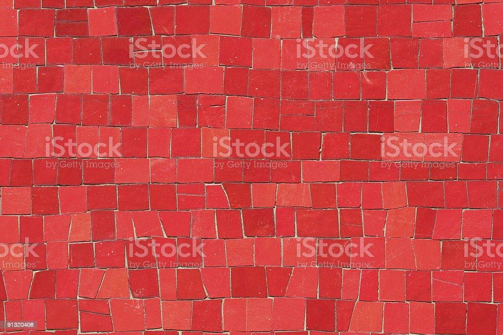Red mosaics royalty-free stock photo