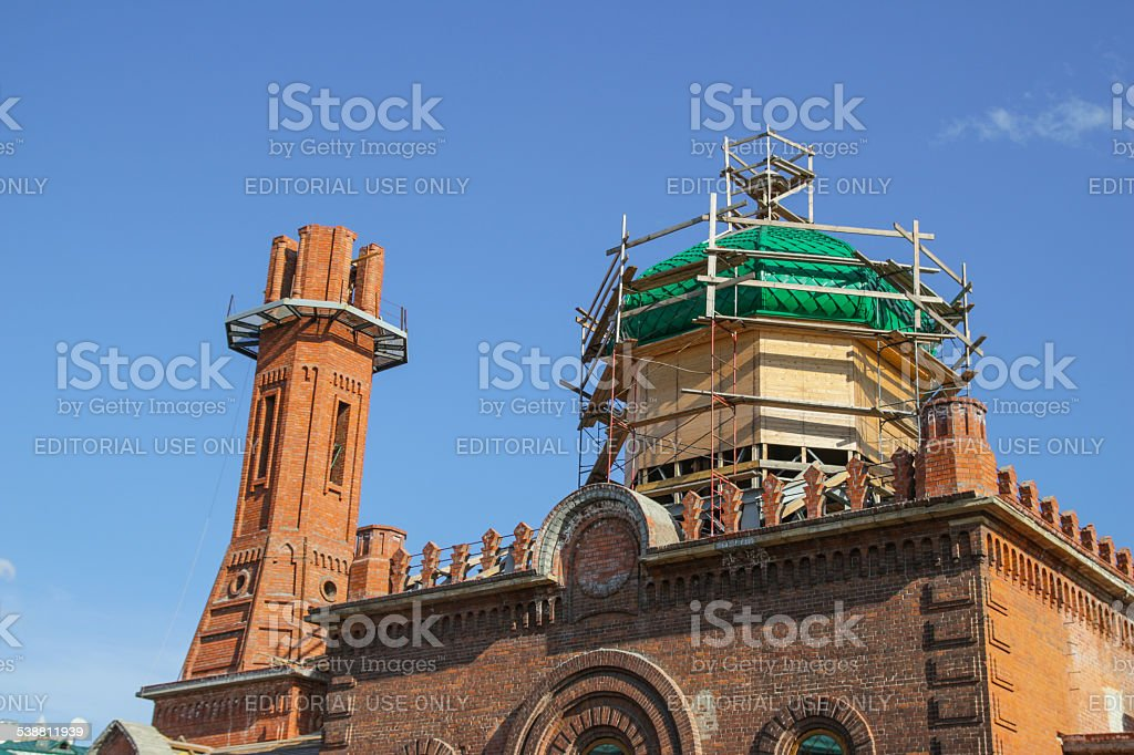 Red Mosque of Tomsk stock photo