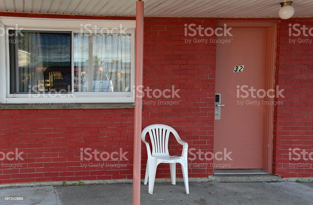 Red motel stock photo