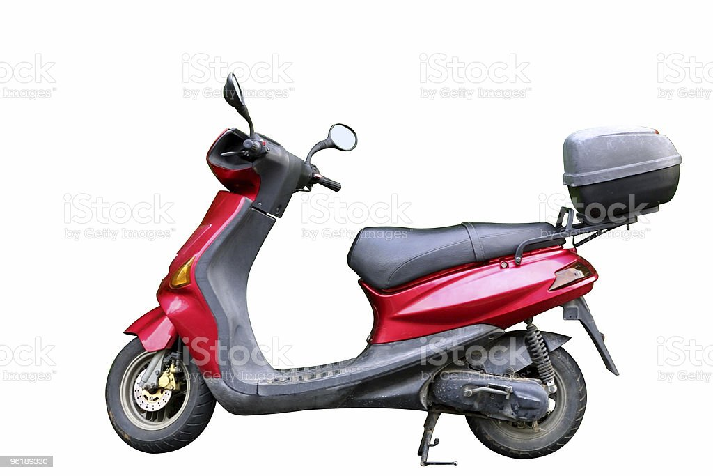 Red motorbicycle (with clipping path) royalty-free stock photo