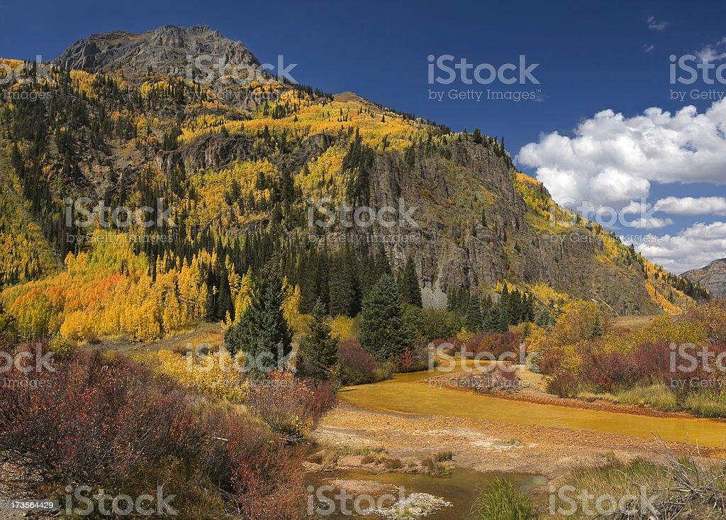 Red Mountain Creek stock photo