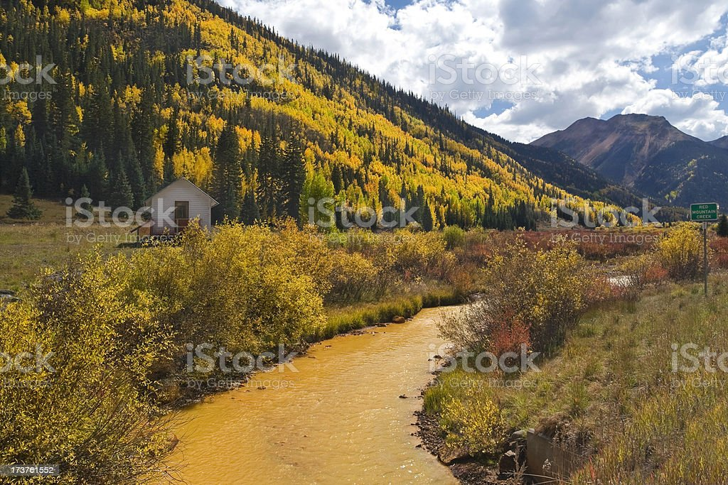 Red Mountain Creek royalty-free stock photo