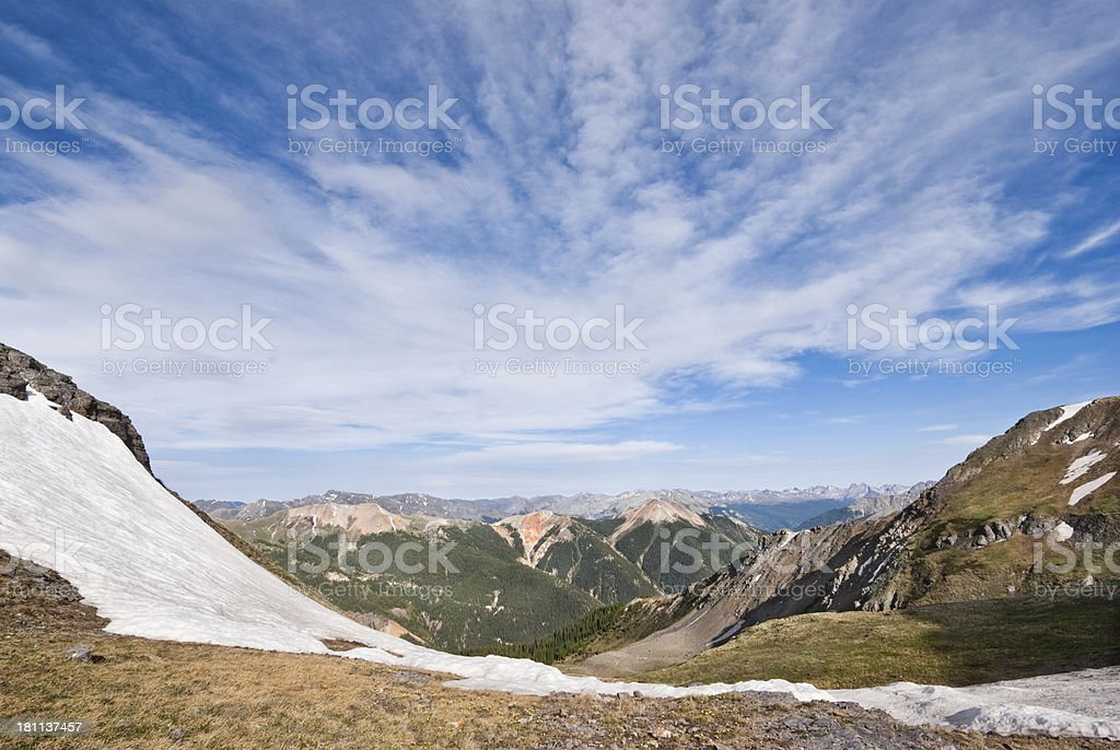 Red Mountain from Columbine Lake Pass royalty-free stock photo