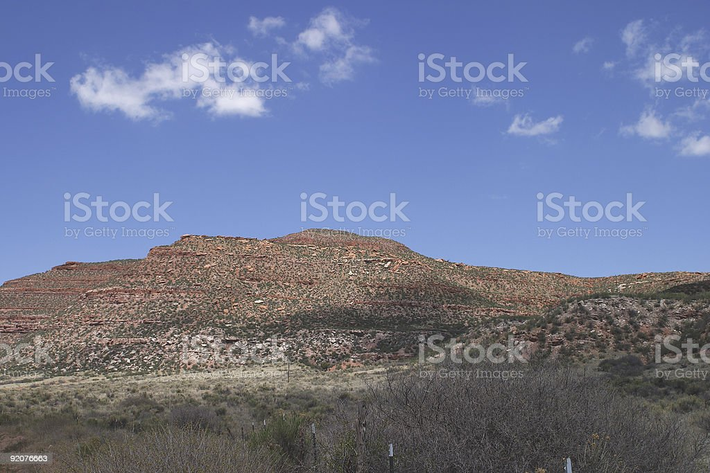 Red Mountain in northern Colorado stock photo