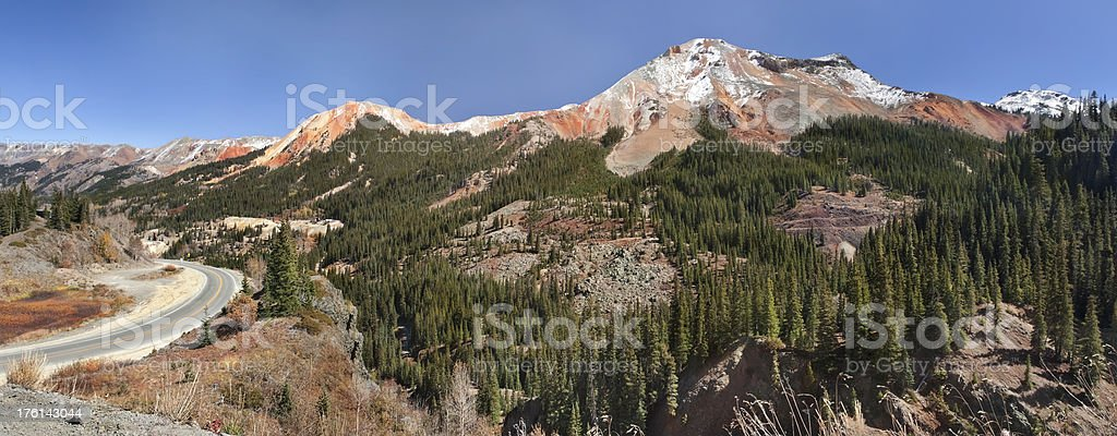 Red Mountain Panorama stock photo
