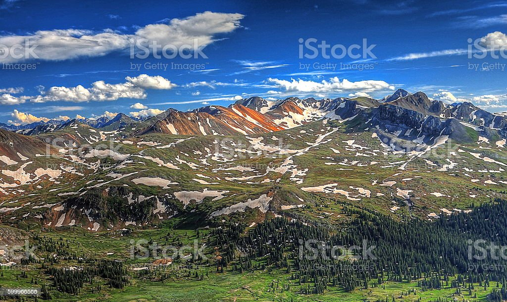 Red Mountains Near Silverton Colorado stock photo