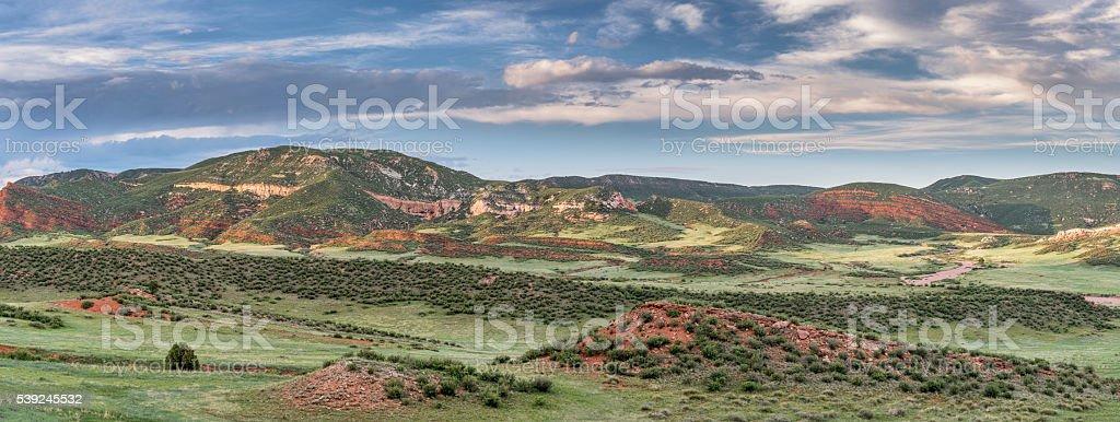 Red Mountains panorama stock photo