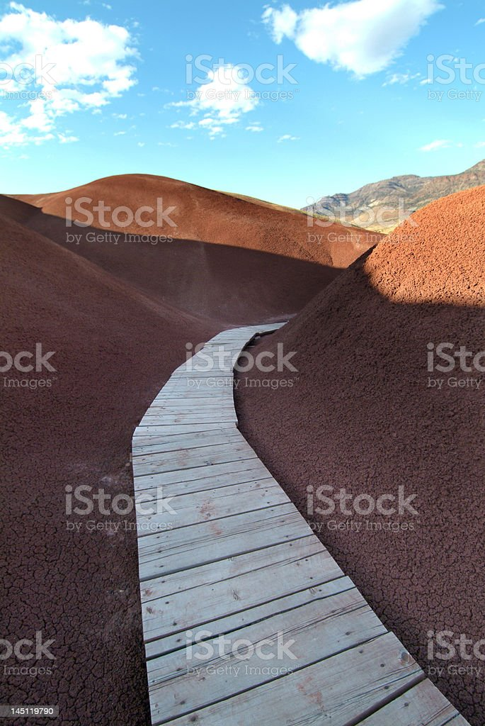 Red Mud Path royalty-free stock photo