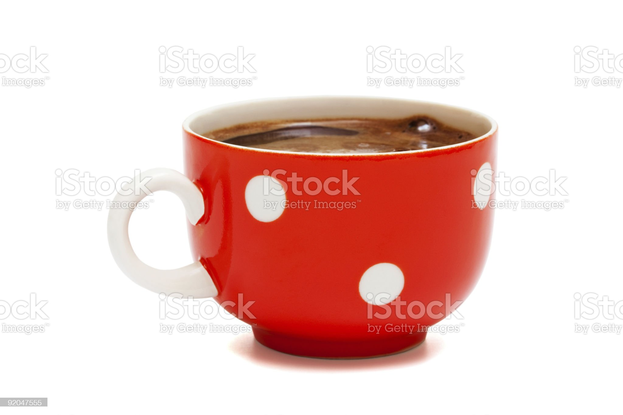 red mug from coffee royalty-free stock photo