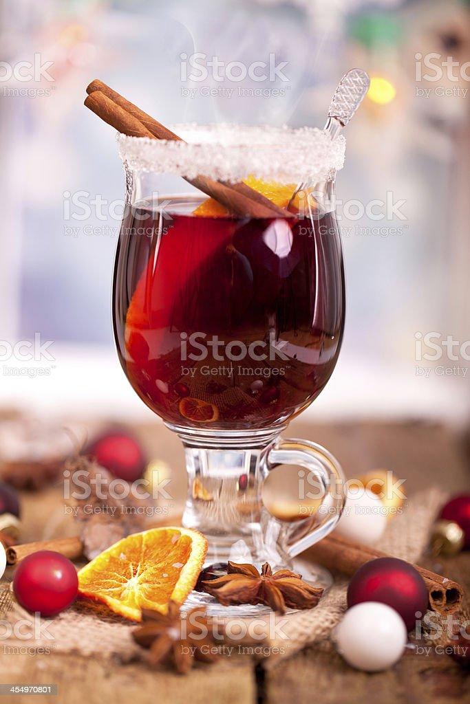 red mulled wine royalty-free stock photo