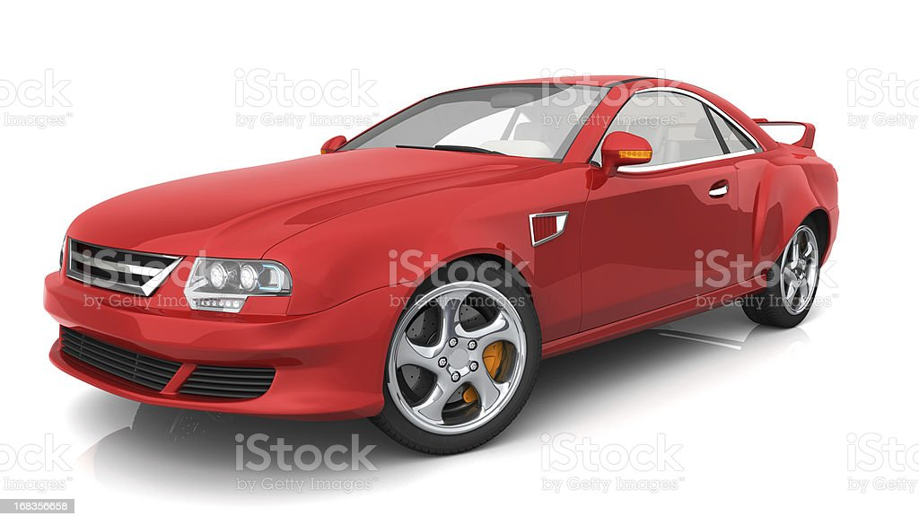 Red muscle car royalty-free stock photo